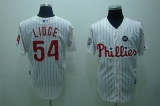 Philadelphia Phillies #54 Brad Lidge Stitched White Red Strip MLB Jersey