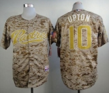 San Diego Padres #10 Justin Upton Camo Alternate 2 Cool Base Stitched MLB Jersey