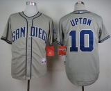 San Diego Padres #10 Justin Upton Grey Cool Base Stitched MLB Jersey