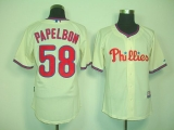 Philadelphia Phillies #58 Jonathan Papelbon Cream Cool Base Stitched MLB Jersey