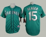 Seattle Mariners #15 Kyle Seager Green Alternate Cool Base Stitched MLB Jersey