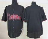 Philadelphia Phillies Blank Black Fashion Stitched MLB Jersey