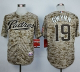 San Diego Padres #19 Tony Gwynn Camo Alternate 2 Cool Base Stitched MLB Jersey