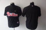 Philadelphia Phillies Blank Stitched Black MLB Jersey