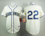 Seattle Mariners #22 Robinson Cano Cream Alternate Cool Base Stitched MLB Jersey