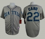 Seattle Mariners #22 Robinson Cano Grey Cool Base Stitched MLB Jersey