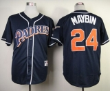 San Diego Padres #24 Cameron Maybin Navy Blue 1998 Turn Back The Clock Stitched MLB Jersey