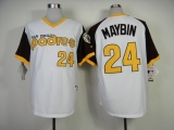 San Diego Padres #24 Cameron Maybin White 1978 Turn Back The Clock Stitched MLB Jersey