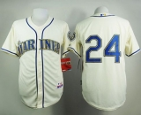 Seattle Mariners #24 Ken Griffey Cream Alternate Cool Base Stitched MLB Jersey