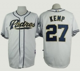 San Diego Padres #27 Matt Kemp White Cool Base Stitched MLB Jersey