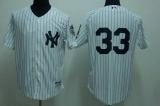 New York Yankees #33 Kelly Johnson White Stitched MLB Jersey