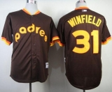 San Diego Padres #31 Dave Winfield Coffee 1984 Turn Back The Clock Stitched MLB Jersey