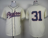 San Diego Padres #31 Dave Winfield Cream 1948 Turn Back The Clock Stitched MLB Jersey