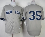 New York Yankees #35 Michael Pineda Grey Stitched MLB Jersey