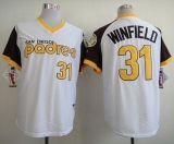 San Diego Padres #31 Dave Winfield White 1978 Turn Back The Clock Stitched MLB Jersey