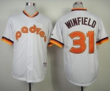 San Diego Padres #31 Dave Winfield White 1984 Turn Back The Clock Stitched MLB Jersey