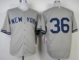 New York Yankees #36 Carlos Beltran Grey Stitched MLB Jersey