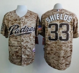 San Diego Padres #33 James Shields Camo Alternate 2 Cool Base Stitched MLB Jersey