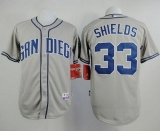 San Diego Padres #33 James Shields Grey Cool Base Stitched MLB Jersey