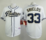 San Diego Padres #33 James Shields White Cool Base Stitched MLB Jersey