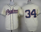 San Diego Padres #34 Rollie Fingers Cream 1948 Turn Back The Clock Stitched MLB Jersey