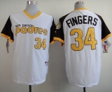 San Diego Padres #34 Rollie Fingers White 1978 Turn Back The Clock Stitched MLB Jersey