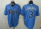 Tampa Bay Rays #3 Evan Longoria Light Blue Stitched MLB Jersey