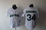 Seattle Mariners #34 Felix Hernandez White Cool Base Stitched MLB Jersey