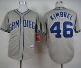 San Diego Padres #46 Craig Kimbrel Coffee Grey Cool Base Stitched MLB Jersey