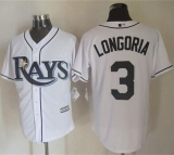 Tampa Bay Rays #3 Evan Longoria White New Cool Base Stitched MLB Jersey