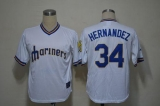 Seattle Mariners #34 Felix Hernandez White Cooperstown Stitched MLB Jersey