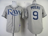 Tampa Bay Rays #9 Wil Myers Grey Cool Base Stitched MLB Jersey