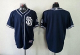 San Diego Padres Blank Dark Blue Cool Base Stitched MLB Jersey