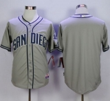 San Diego Padres Blank Grey Cool Base Stitched MLB Jersey