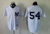 New York Yankees #54 Kevin Long White Stitched MLB Jersey
