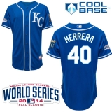 Kansas City Royals #40 Kelvin Herrera Light Blue Alternate 2 Cool Base W 2014 World Series Patch Stitched MLB Jersey