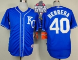 Kansas City Royals #40 Kelvin Herrera Light Blue Alternate 2 Cool Base W2015 World Series Patch Stitched MLB Jersey