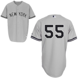 New York Yankees #55 Russell Martin Grey Stitched MLB Jersey