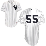 New York Yankees #55 Russell Martin White Stitched MLB Jersey