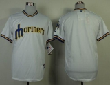 Seattle Mariners Blank White 1979 Turn Back The Clock Stitched MLB Jersey