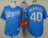 Kansas City Royals #40 Kelvin Herrera Light Blue Alternate Cool Base W 2015 World Series Patch Stitched MLB Jersey