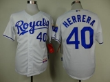 Kansas City Royals #40 Kelvin Herrera White Cool Base Stitched MLB Jersey