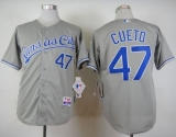 Kansas City Royals #47 Johnny Cueto Grey Cool Base Stitched MLB Jersey