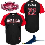 Tampa Bay Rays #22 Chris Archer Black 2015 All-Star American League Stitched MLB Jersey