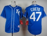 Kansas City Royals #47 Johnny Cueto Light Blue Alternate 2 Cool Base Stitched MLB Jersey