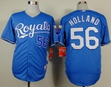 Kansas City Royals #56 Greg Holland Light Blue Alternate 1 Cool Base Stitched MLB Jersey