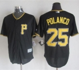 Pittsburgh Pirates #25 Gregory Polanco Black New Cool Base Stitched MLB Jersey