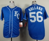 Kansas City Royals #56 Greg Holland Light Blue Alternate 2 Cool Base Stitched MLB Jersey