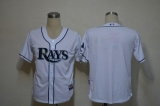 Tampa Bay Rays Blank White Cool Base Stitched MLB Jersey