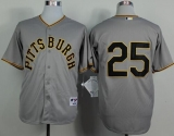Pittsburgh Pirates #25 Gregory Polanco Grey 1953 Turn Back The Clock Stitched MLB Jersey